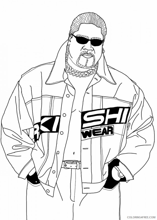 wwe coloring pages printable free Coloring4free