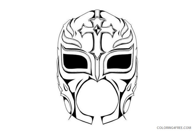 wwe coloring pages rey mysterio mask Coloring4free