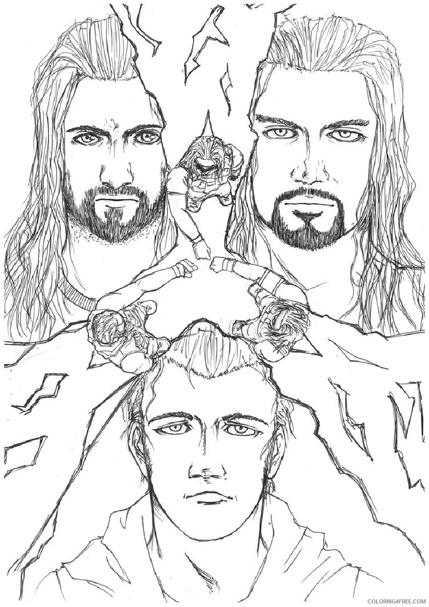 wwe coloring pages the shield Coloring4free