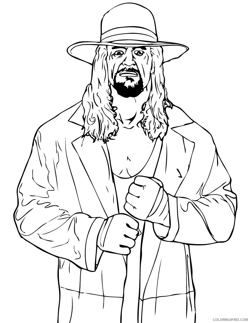 wwe coloring pages undertaker Coloring4free