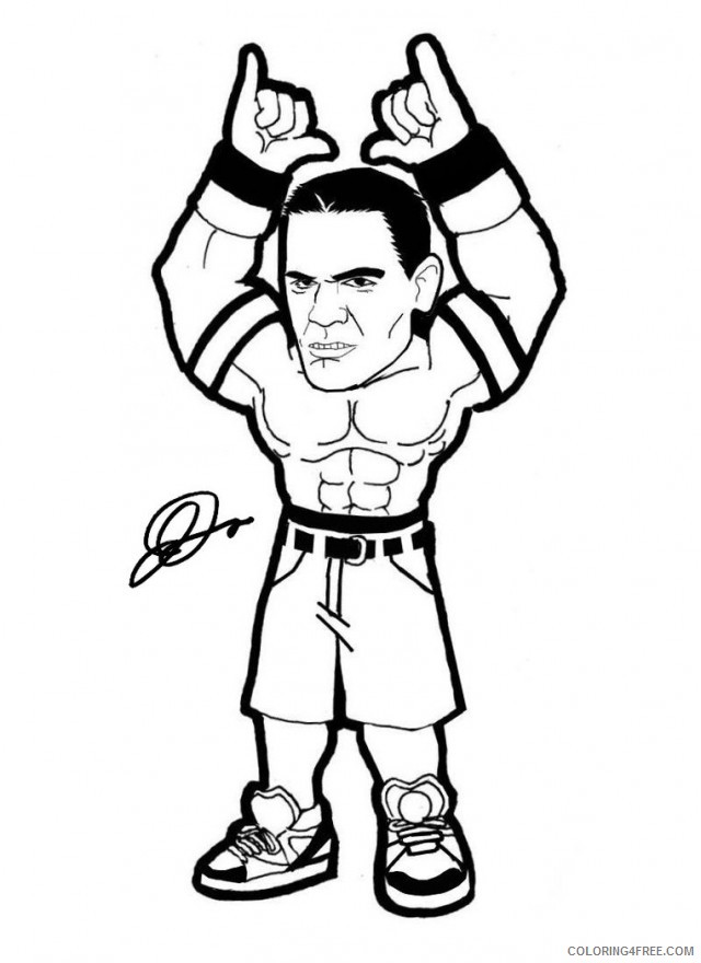 wwe john cena coloring pages for kids Coloring4free