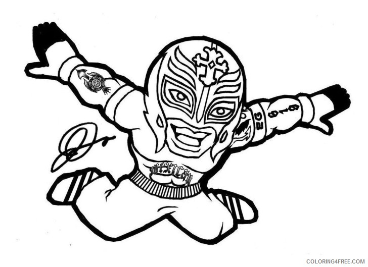 wwe rey mysterio coloring pages for kids Coloring4free