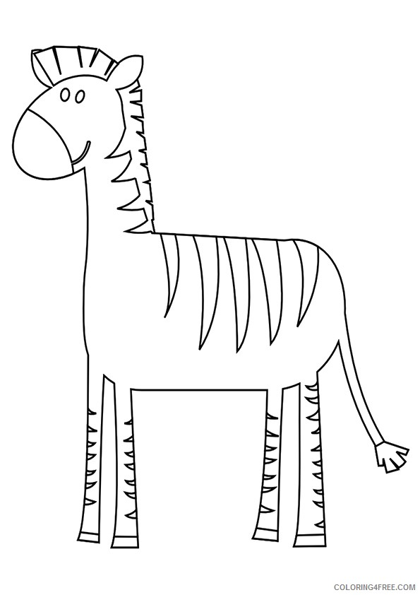 zebra coloring pages for preschool Coloring4free