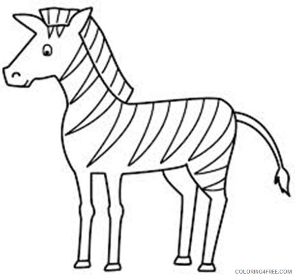 zebra coloring pages for toddler Coloring4free