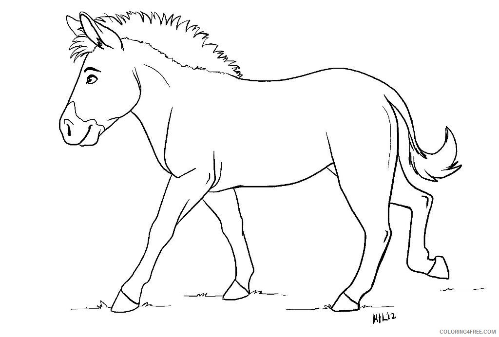 zebra coloring pages without stripes Coloring4free
