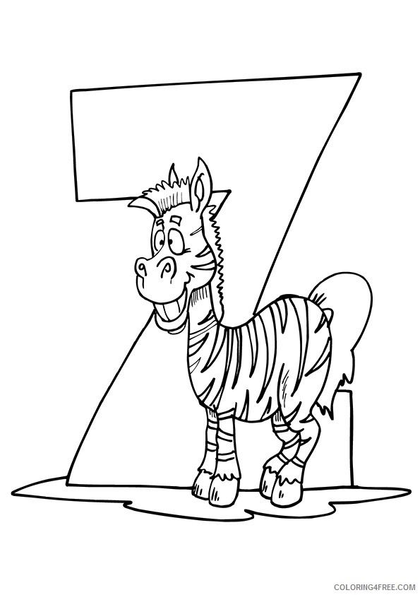 zebra coloring pages z for zebra Coloring4free