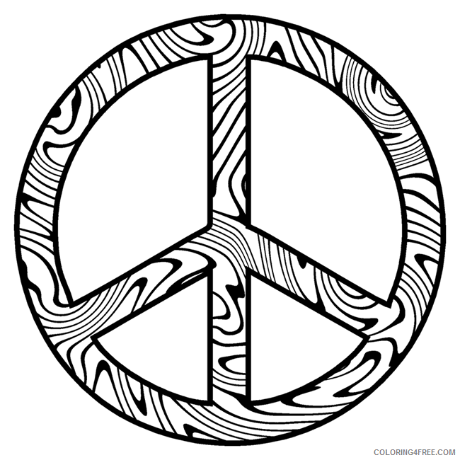 zebra peace sign coloring pages to print Coloring4free