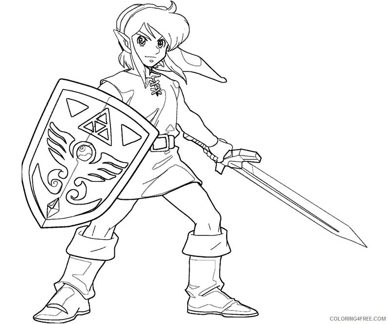 zelda coloring pages for boys Coloring4free