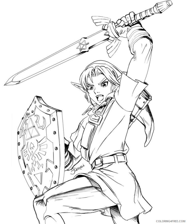 zelda coloring pages printable Coloring4free