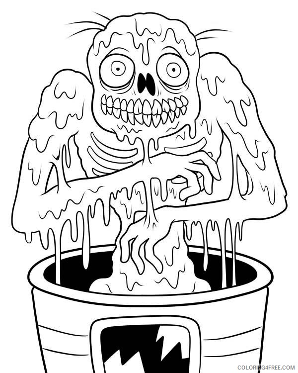 zombie coloring pages free to print Coloring4free