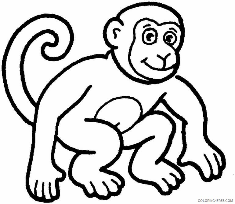 zoo animal coloring pages monkey Coloring4free