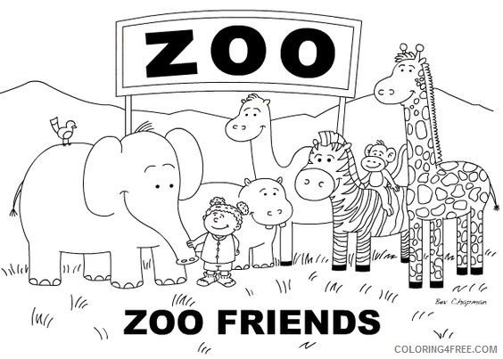 zoo coloring pages zoo friends Coloring4free